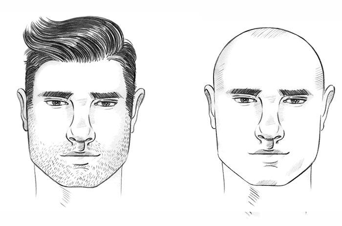الوجه المربع للرجال