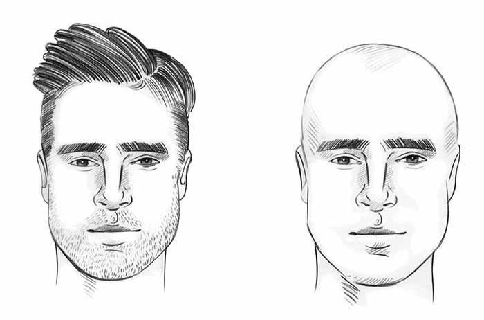 قصة شعر الوجه البيضاوي