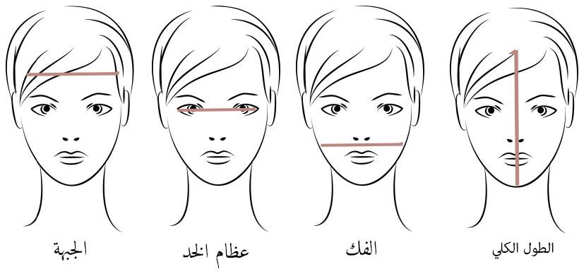 قياس الوجه